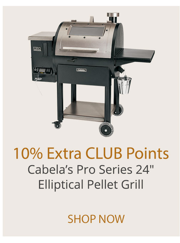 10% Extra CLUB Points - Cabela's Pro Series 24 in. Ellitical Pellet Grill