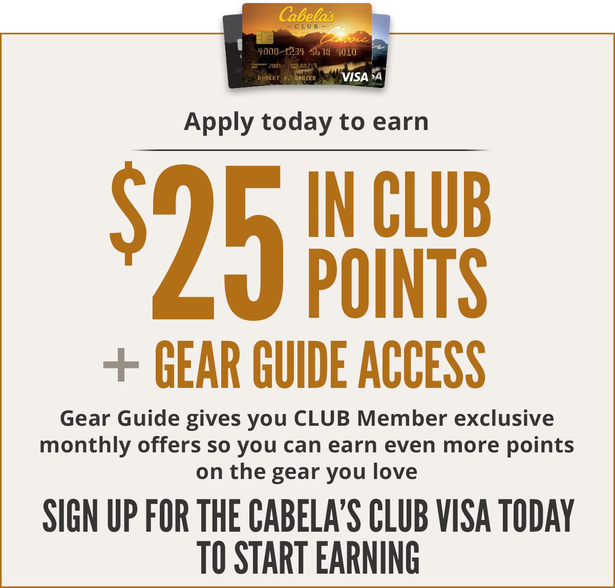 Earn CLUB points and Gear Guide access - Sign up today to start earning