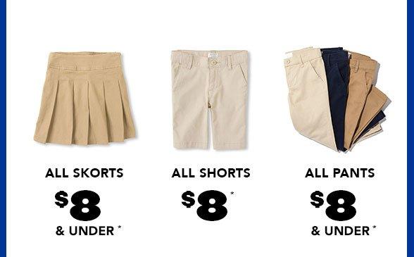 Girls Uniform Bottoms