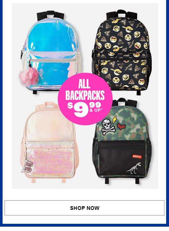 All Backpacks 50% Off