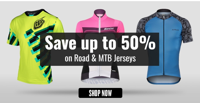Save up to 50% on Road & MTB Jerseys
