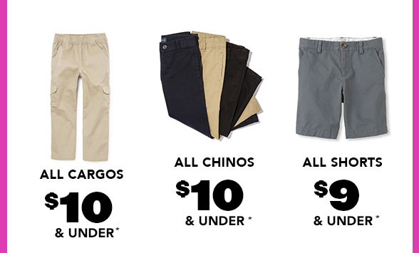 All Boy Cargos Chinos Shorts