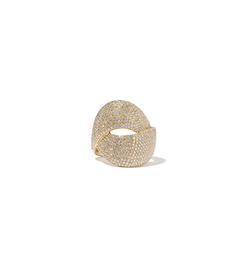 Anne Sisteron Diamond Luxe Twist Yellow-Gold Ring $3,880