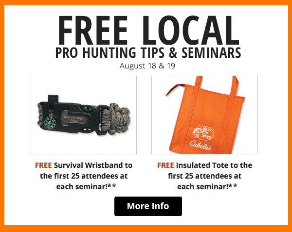 Free Local Pro Hunting Tips & Seminars