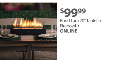 Bond Lara 20in Tablefire Firebowl