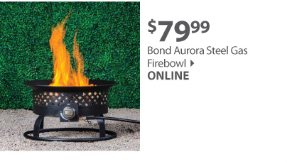 Bond Aurora Steel Gas Firebowl