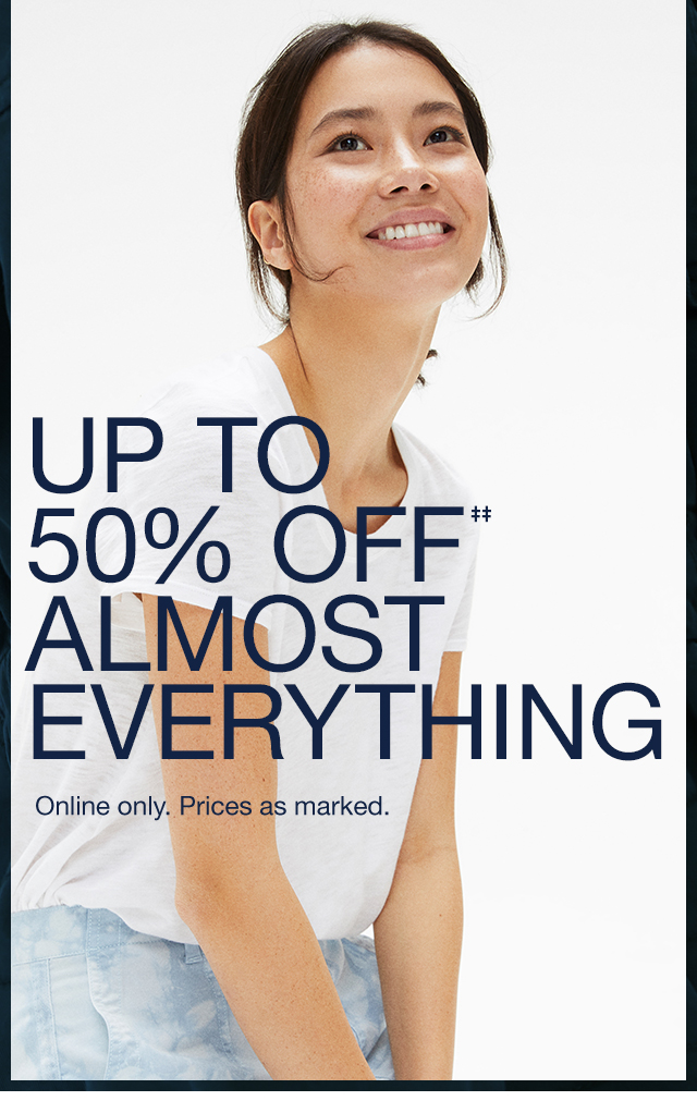 UP TO 50% OFF ALMOST EVERYTHING
