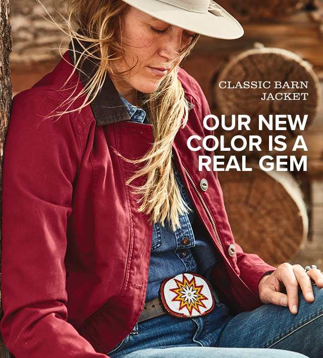 a86f34ac9 Orvis: New color! Discover our Classic Barn Jacket in garnet.   Milled