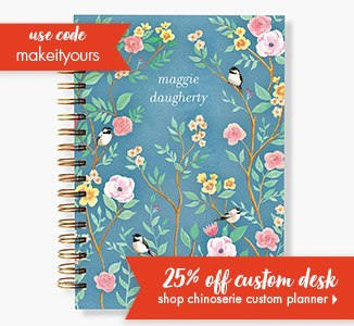 Shop 25% Off Chinoserie Custom 17mo. Planner!