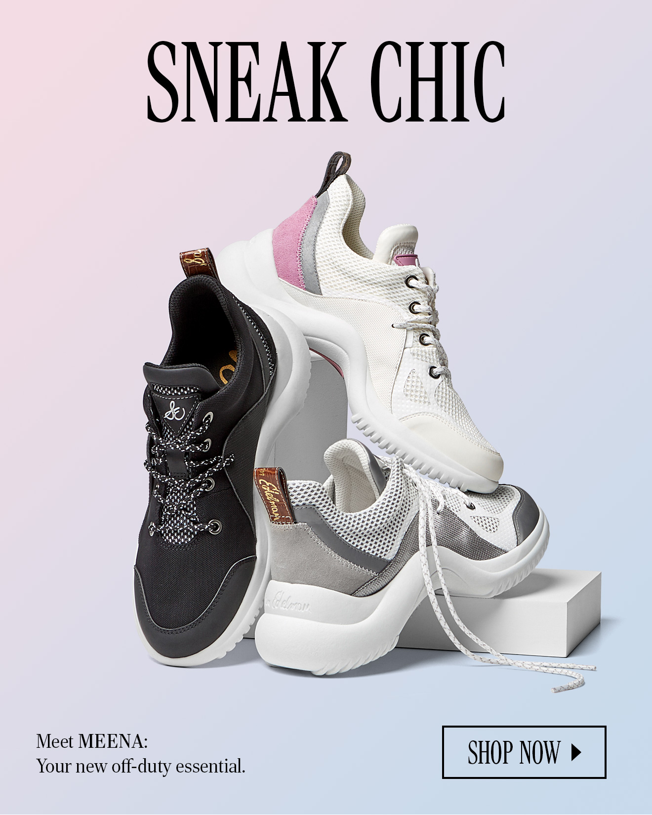 65c1d1e8cda4 Meet MEENA  Your new off-duty essential. SHOP NOW. MEENA SNEAKER