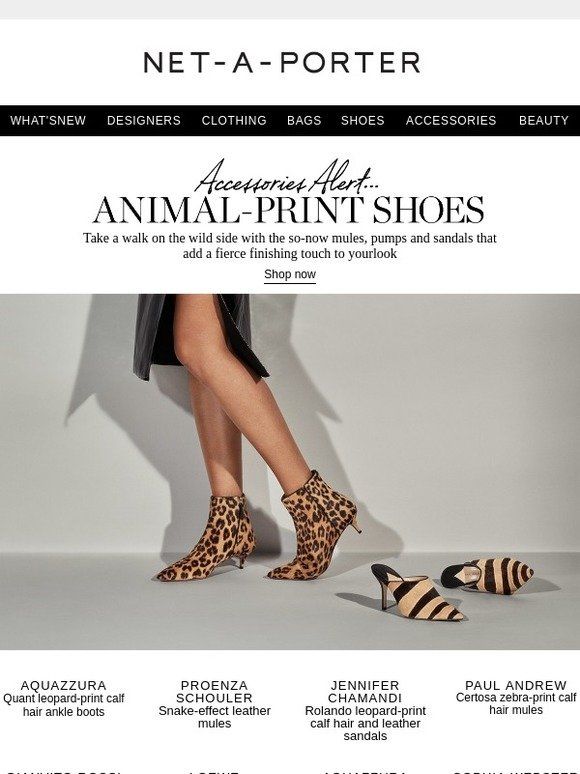 f127f1d27c2b Net-A-Porter: Animal-print shoes that add a fierce finishing touch | Milled