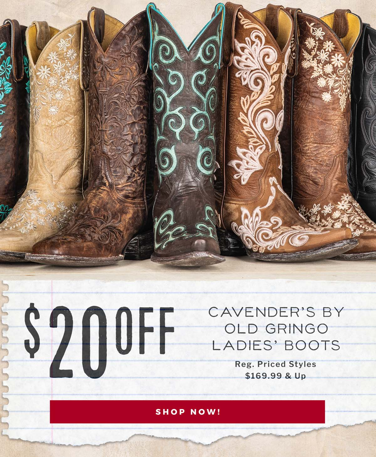 Boots Designed by the Cavender Family