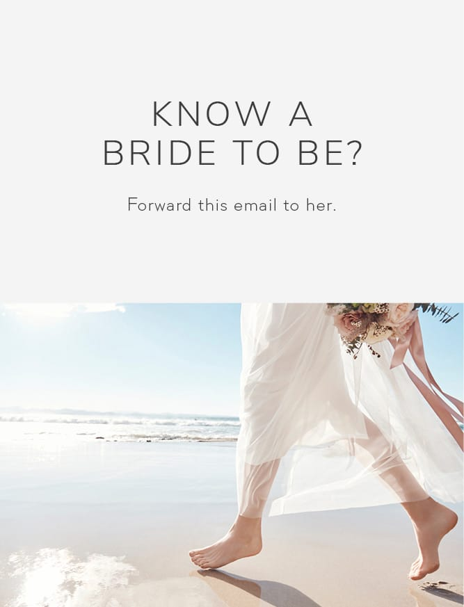 Know a bride to be? Forward this email to her.