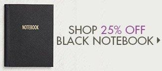 Shop 25% Off Black Notebook