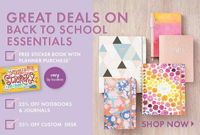 Shop Great Deals on Back to School Essentials!