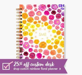 Shop 25% Off Custom Rainbow Floral Planner