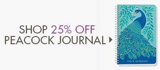 Shop 25% Off Custom Peacock Journal