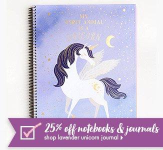 Shop 25% Off Lavender Unicorn Journal