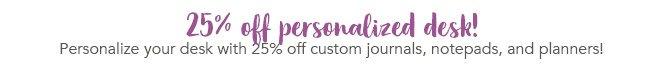 Shop 2% Off Personalized Desk!