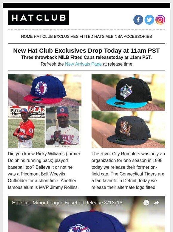 9c55f299fd4 Hat Club  Ricky Williams Played Baseball   😯