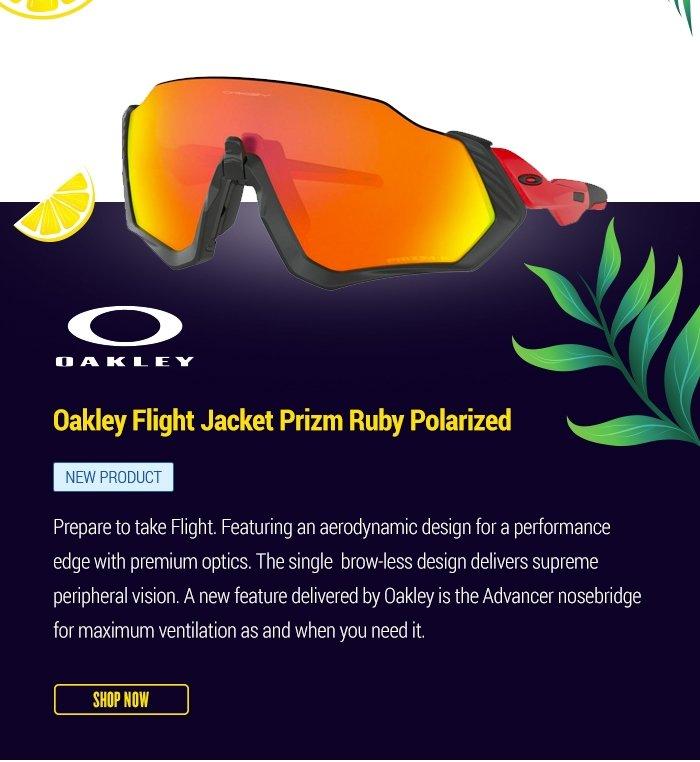 Oakley Flight Jacket Prizm Ruby Polarized