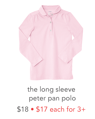 the long sleeve peter pan polo
