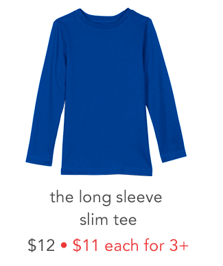 the long sleeve slim tee