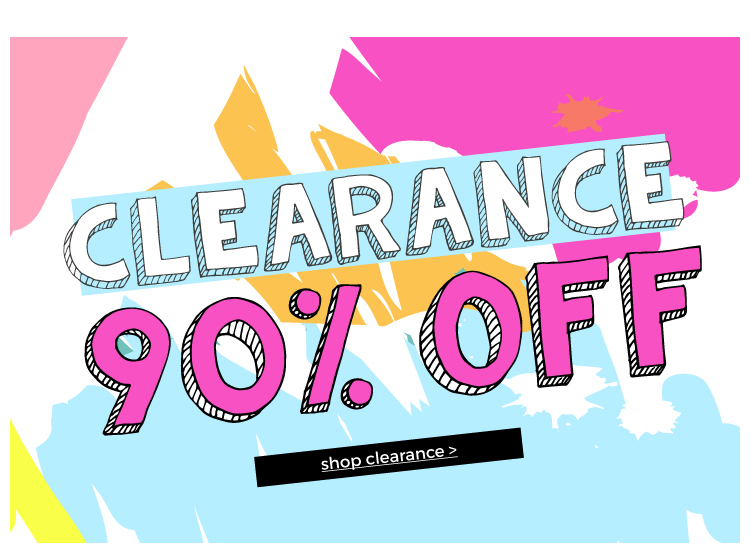 Shop Clearance up to 90/% off