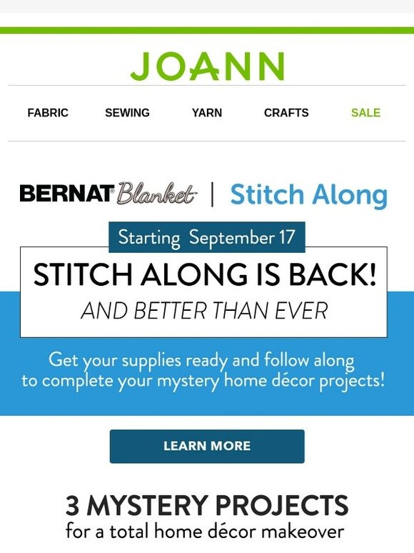 Jo-Ann Fabric and Craft Store: Are you ready to join us for