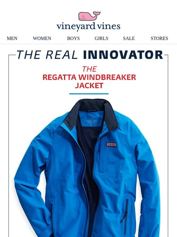 Vineyard Vines The Regatta Windbreaker Jacket Milled