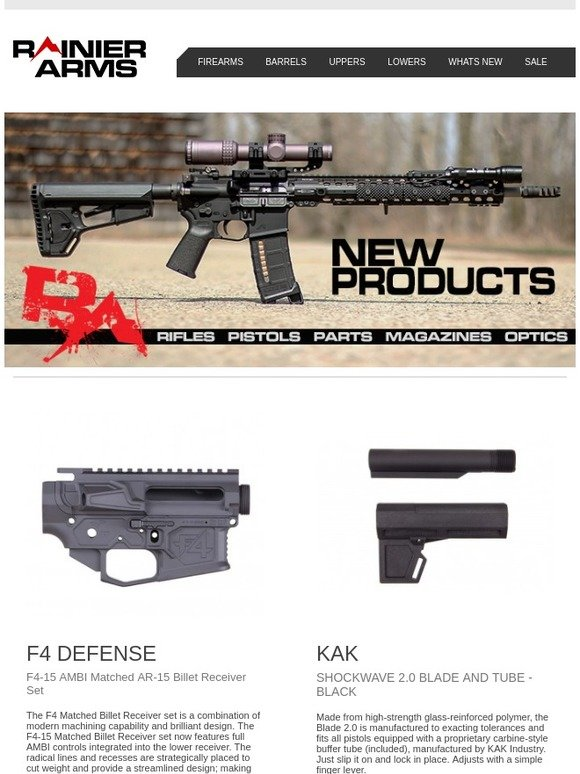 Rainier Arms: Exciting New Products! | Milled
