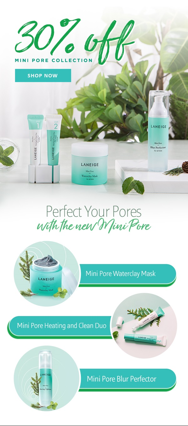 Laneige Is Your Skin Pore Fect Milled Wateclay Mask 30percentoff Mini Collection