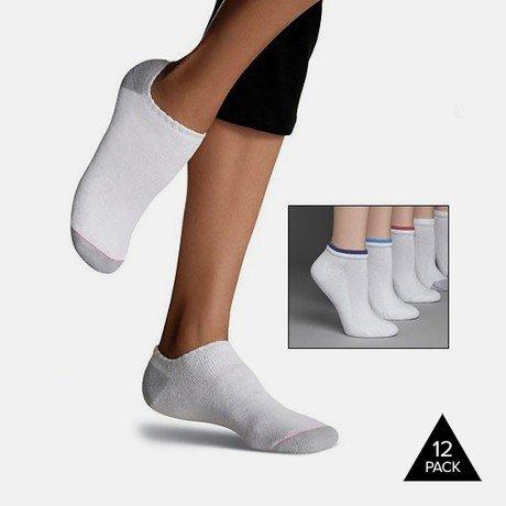 2bdd4e62adb Tanga  12-Pack Hanes Women s Cushioned Low-Cut Socks