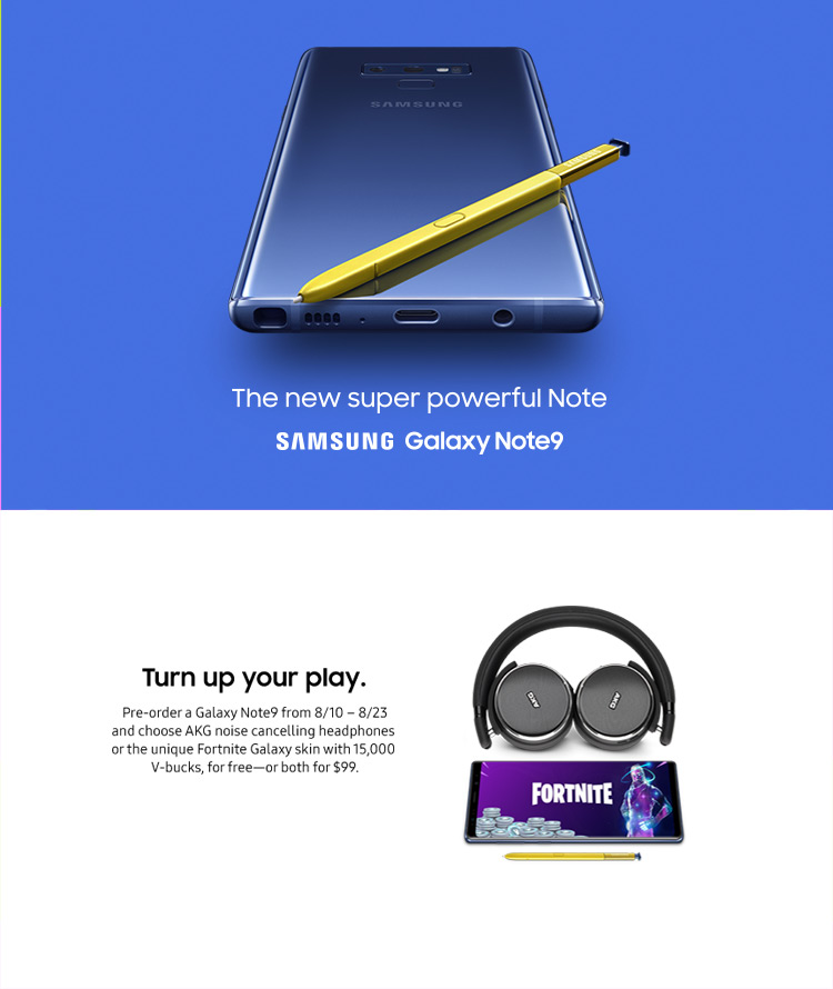 Straight Talk: The Samsung Galaxy Note9 presale ends tonight