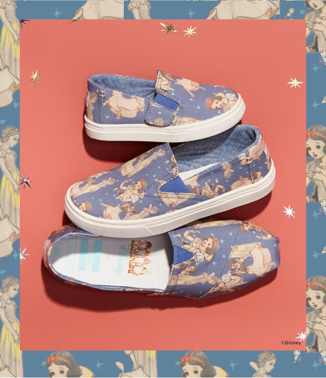 04f044d1348 Our Disney Snow White collection is the third capsule in the Disney x TOMS  collaboration.