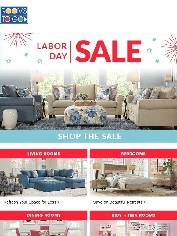 Rooms To Go Labor Day Sale Event Is Here Get Shopping Milled