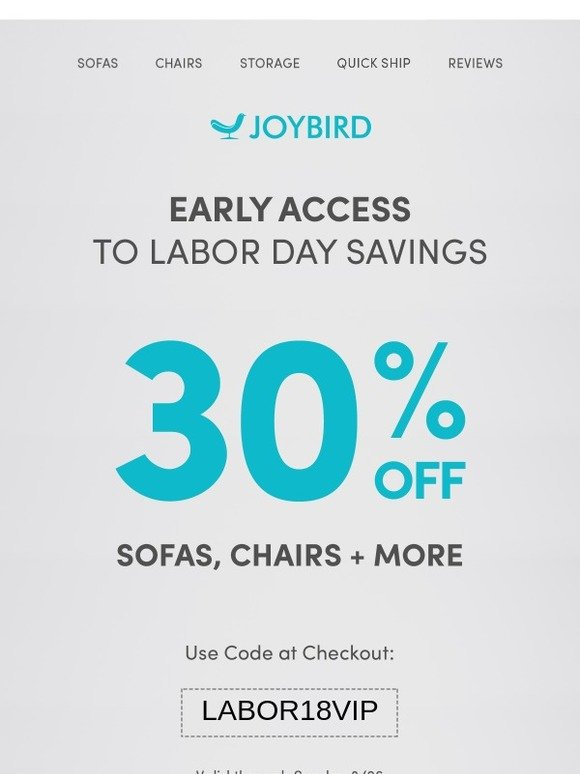Joybird This Is Your VIP Pass