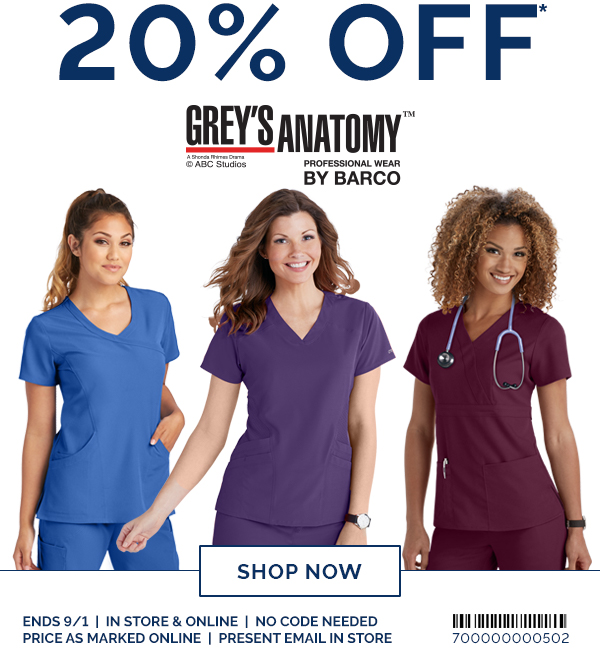 Uniform City 20 Off Grey S Anatomy More Brands Milled