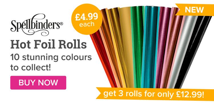 spellbinders Hot Foil Rolls 3 for 12.99