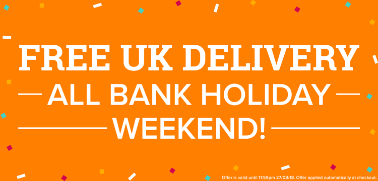 Free UK Delivery This Bank Holiday Weekend!