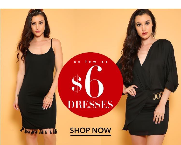 Shop Dresses as low as $6