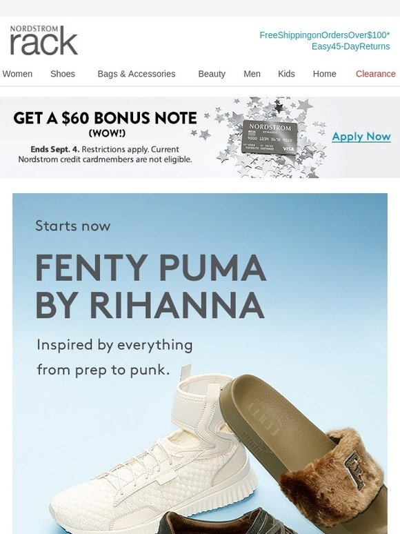 free shipping b00ab 74a28 Nordstrom: The FENTY PUMA BY RIHANNA Event: Up to 60% Off ...