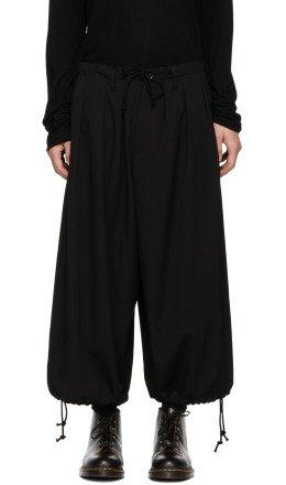 Yohji Yamamoto - Black Basic Balloon Trousers