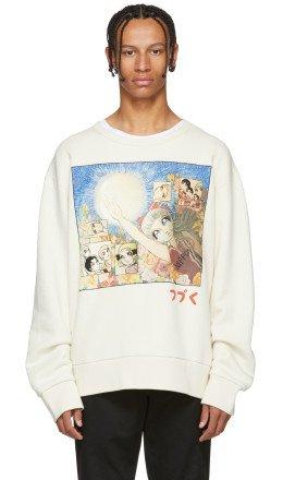 Gucci - White Manga Sweatshirt