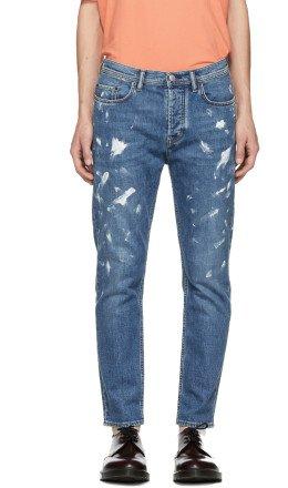 Acne Studios Bl Konst - Blue Vintage Paint River Jeans