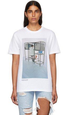 Off-White - White Byredo Edition 'Elevator Music' Slim T-Shirt