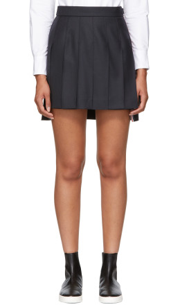 Thom Browne - Navy Dropped Back Skirt