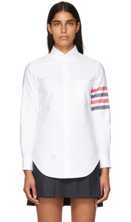 Thom Browne - White Classic Point Collar Shirt