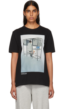 Off-White - Black Byredo Edition 'Elevator Music' Slim T-Shirt