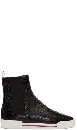 Thom Browne - Black Chelsea Sneaker Boots